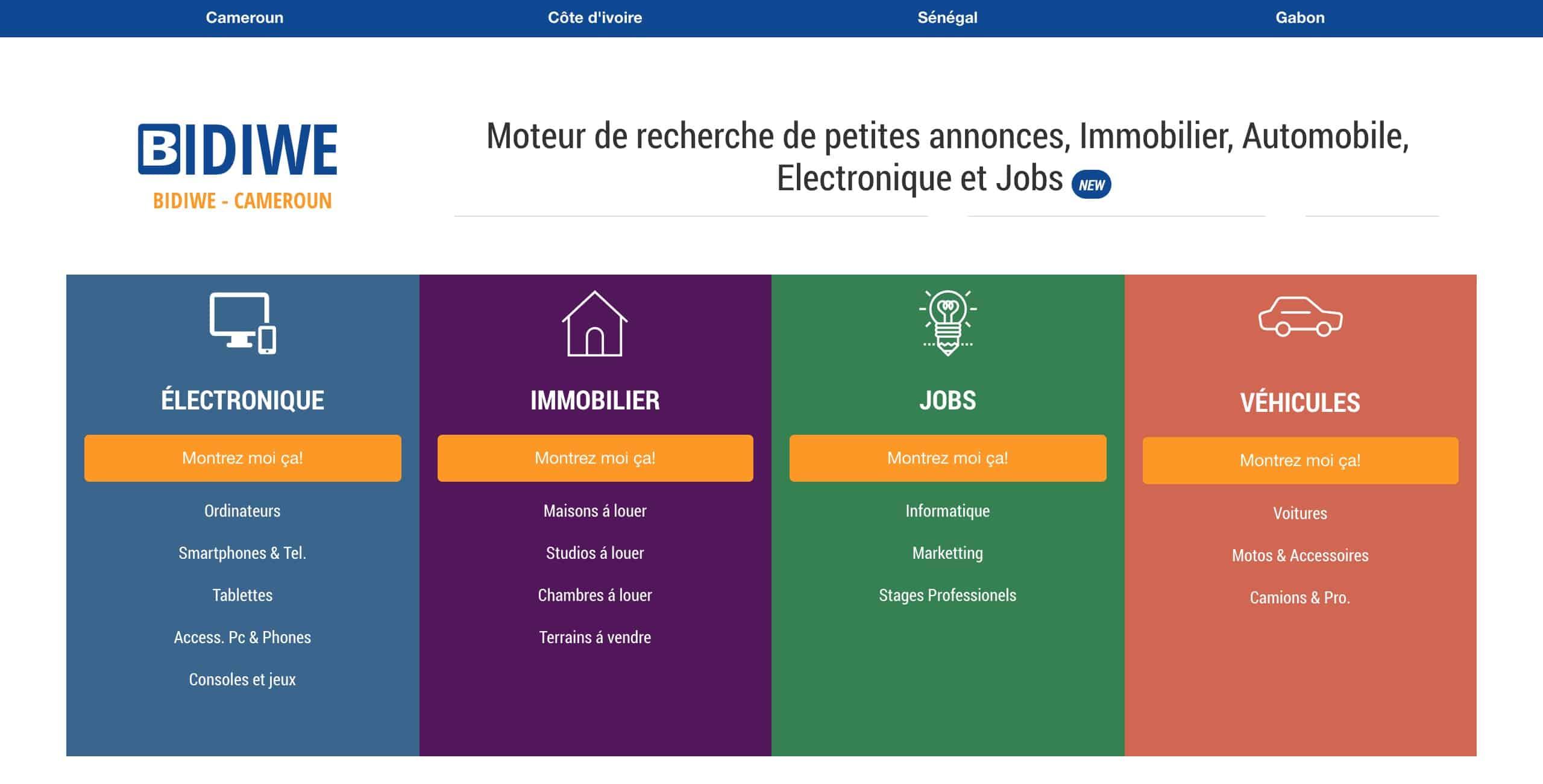 #Cameroun / Bidiwe : le 1er moteur de recherche et comparateur de prix pour annonces.