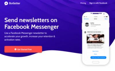 Botletter / Envoyez vos newsletters dans Facebook Messenger