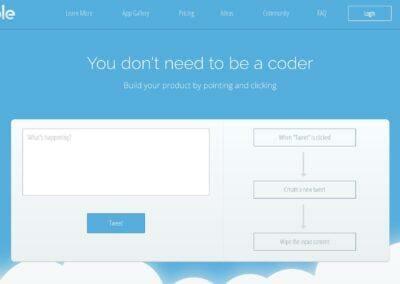 Bubble : Créez un site web ou une App mobile sans coder.