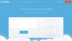 471968c4937 Bubble est une plateforme permettant de créer facilement un site web ou une  app mobile sans avoir la moindre notion de programmation.