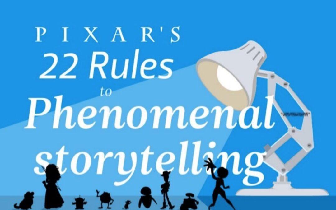 Storytelling : Les 22 règles de Pixar pour être exaltant, percutant et efficace !