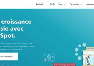 Hubspot : la plateforme tout-en-un pour l'Inbound Marketing, la Vente et le Service Client.