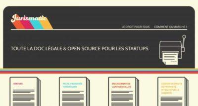 Jurismatic – Toute la documentation légale pour lancer votre startup, disponible en open source.