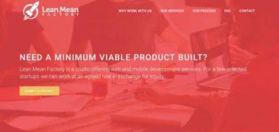 Lean Mean Factory : Votre MVP à prix réduit en échange d'equity