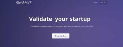 QuickMVP : Testez rapidement la pertinence business de votre idée.