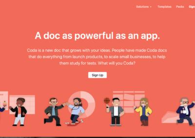 Coda : Créez des documents dynamiques aussi complets que des applications.