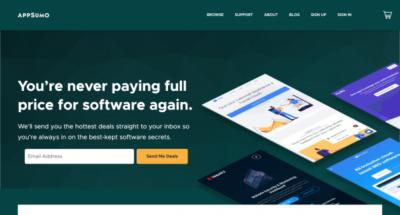 AppSumo / Réductions et bons plans sur des outils digitaux pour entrepreneurs.