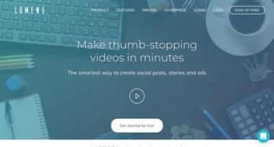 Lumen5 / Créez des vidéos ou stories percutantes en quelques minutes à partir de vos articles.
