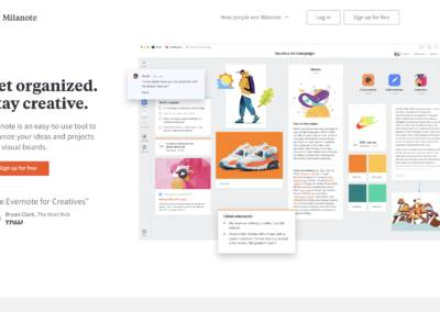 Milanote : Organisez vos idées et projets créatifs de manière visuelle.