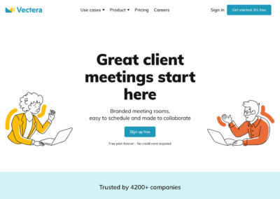 Vectera : La solution de réunions collaboratives tout-en-un (visio + tableau blanc + calendrier)